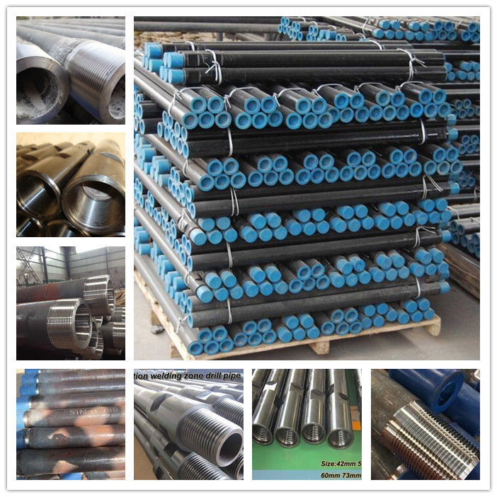 High Strength Drill Steel Pipe With Friction Welding 5.5-10mm Wall Thickness